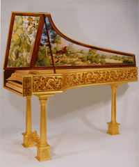 Harpsichord by John Phillips, decoration by Janine Johnson.