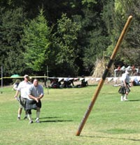 Scottish Caber toss